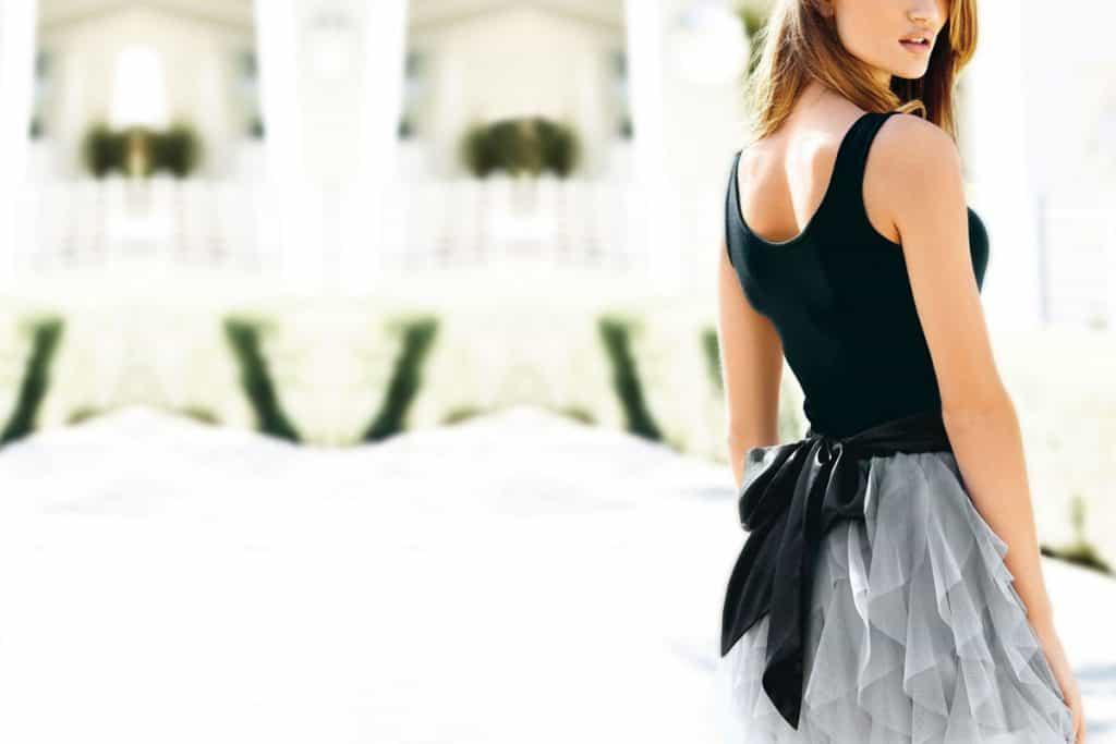 Fashionable woman standing